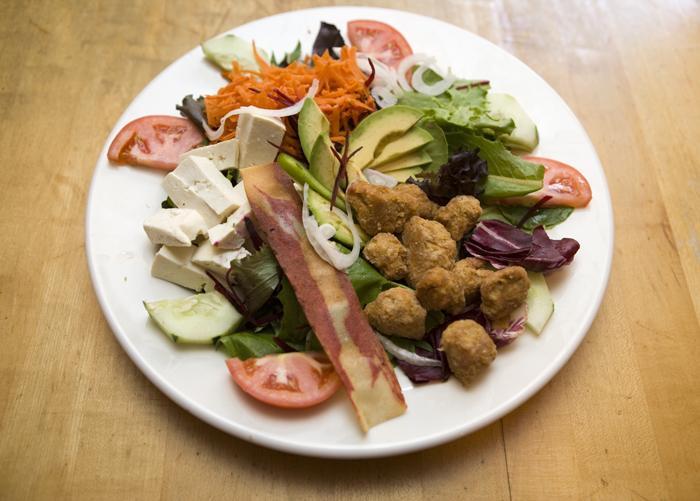 grilled vegetarian chicken salad village natural - Copy