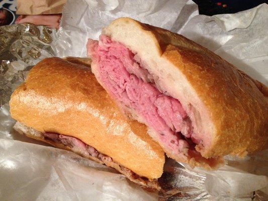 roasted beef au jus sandwich, au jus