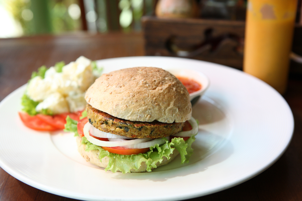 vegan lentil burger