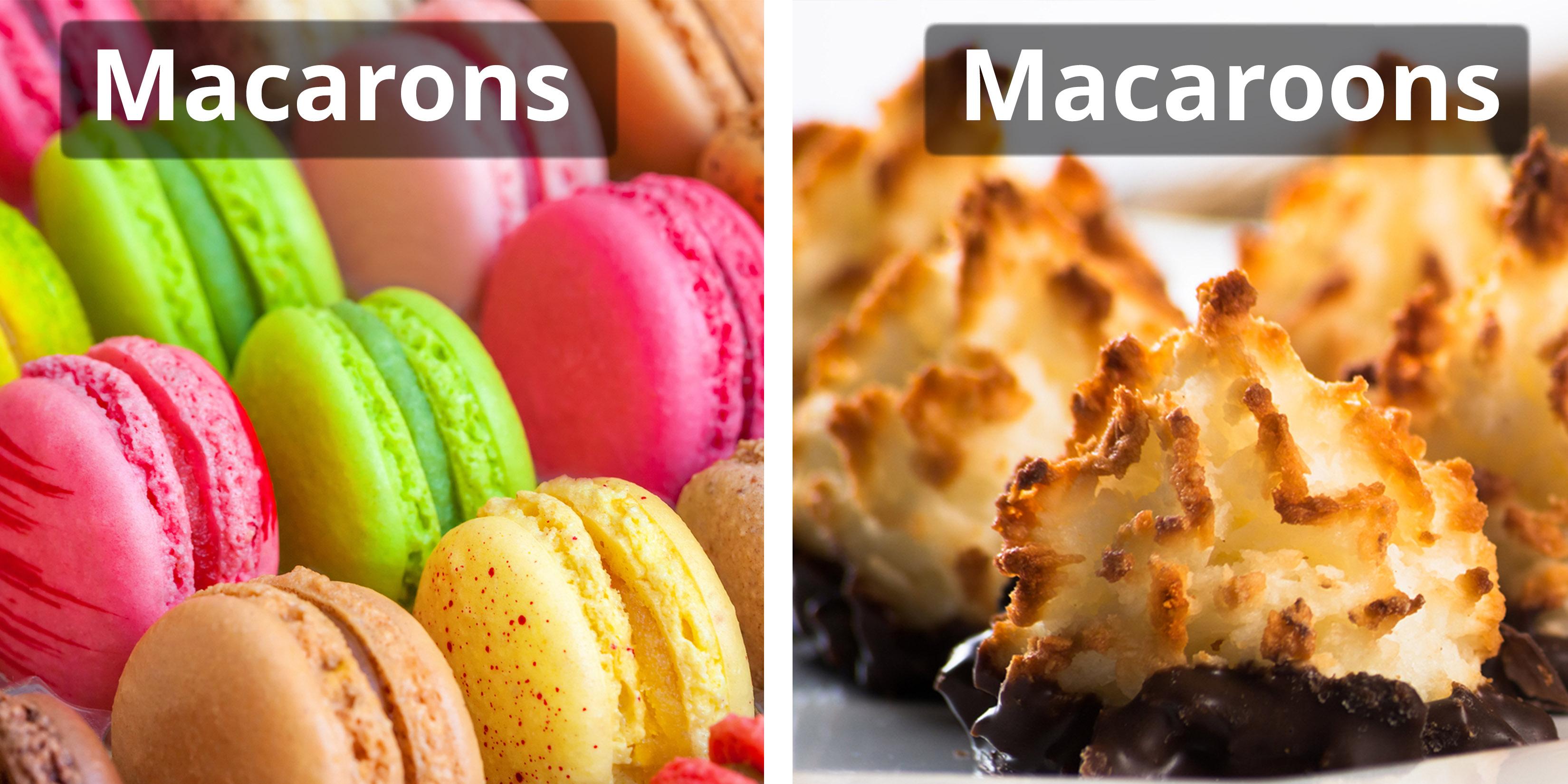 macarons v macaroons
